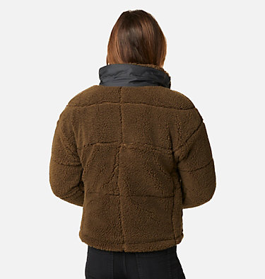 Columbia Lodge Baffled Sherpa Fleecejacke für Frauen Columbia Lodge™ Baffled Sherpa Fleece | 010 | L, Olive Green, Black, back