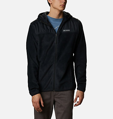 Men's Cottonwood Park™ Overlay Fleece Jacket Cottonwood Park™ Overlay Full Zip Fleece | 397 | S, Black, front