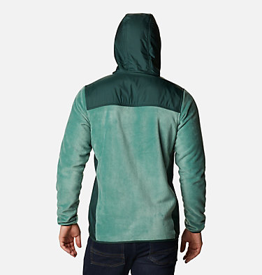 Men's Cottonwood Park™ Overlay Fleece Jacket Cottonwood Park™ Overlay Full Zip Fleece | 397 | S, Thyme Green, Spruce, back