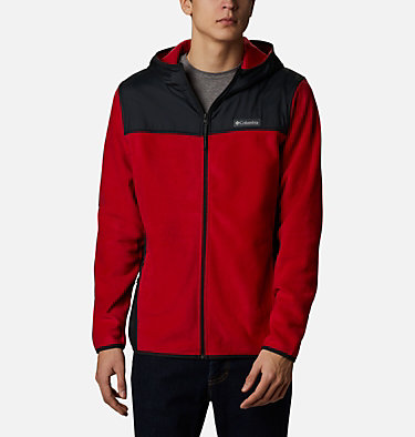 Men's Cottonwood Park™ Overlay Fleece Jacket Cottonwood Park™ Overlay Full Zip Fleece | 397 | S, Mountain Red, Black, front