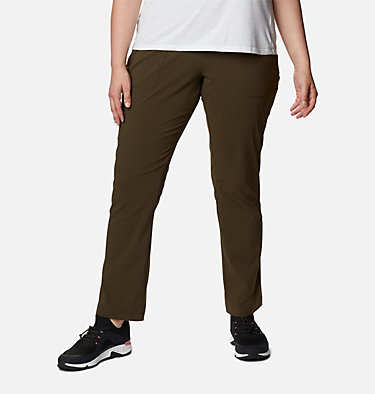 Women's Everyday Go To™ Pants - Plus Size Everyday Go To™ Pant | 010 | 1X, Olive Green, front