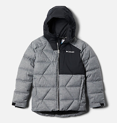 Boys' Winter Powder Quilted Jacket Winter Powder™ Quilted Jacket | 464 | M, Black Heather, front