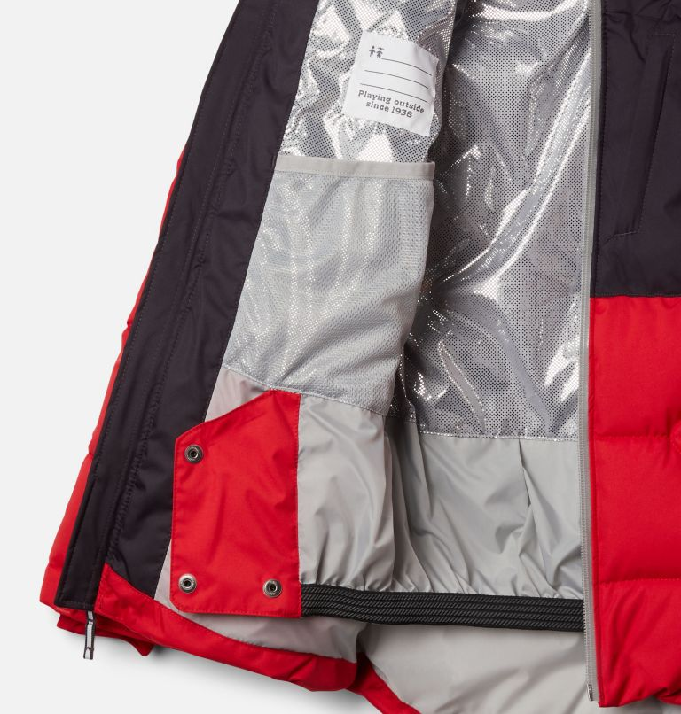 Winter Powder™ Quilted Jacket | 613 | XL Boys' Winter Powder™ Quilted Jacket, Mountain Red, Dark Purple, a1