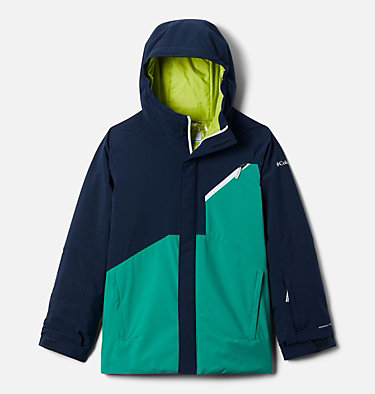 Boys' Winter District™ Jacket Winter District™ Jacket | 464 | XXS, Collegiate Navy, Bright Emerald, front