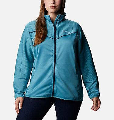 Women's Roffe Ridge™ II Full Zip Fleece Jacket - Plus Size Roffe Ridge™ II Full Zip | 472 | 1X, Canyon Blue, Dark Nocturnal, front
