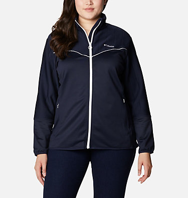 Women's Roffe Ridge™ II Full Zip Fleece Jacket - Plus Size Roffe Ridge™ II Full Zip | 472 | 1X, Dark Nocturnal, White, front