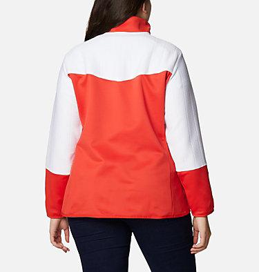 Women's Roffe Ridge™ II Full Zip Fleece Jacket - Plus Size Roffe Ridge™ II Full Zip | 472 | 1X, Bold Orange, White, back