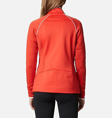 Women's Roffe Ridge™ Half Zip Fleece Roffe Ridge™ 1/2 Zip | 430 | L, Bold Orange, White, back