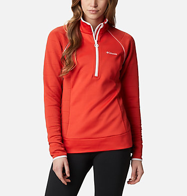 Women's Roffe Ridge™ Half Zip Fleece Roffe Ridge™ 1/2 Zip | 430 | L, Bold Orange, White, front