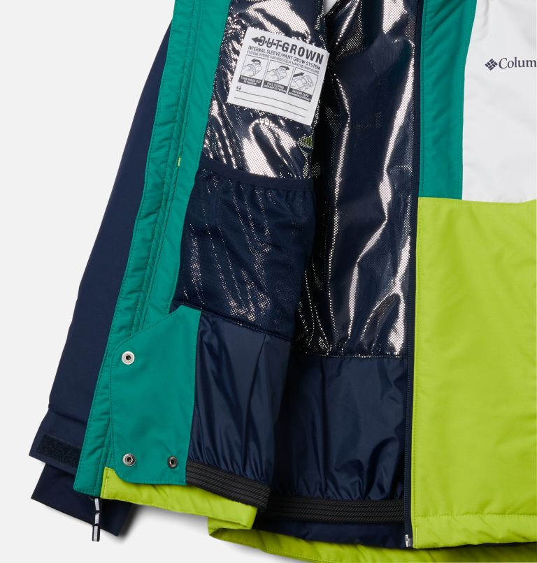 Timber Turner™ Jacket | 100 | S Timber Turner™ Jacket, White, Brt Chrtrse, Coll Navy, Emerald G, a1