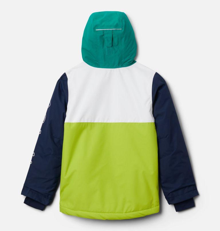Timber Turner™ Jacket | 100 | S Timber Turner™ Jacket, White, Brt Chrtrse, Coll Navy, Emerald G, back