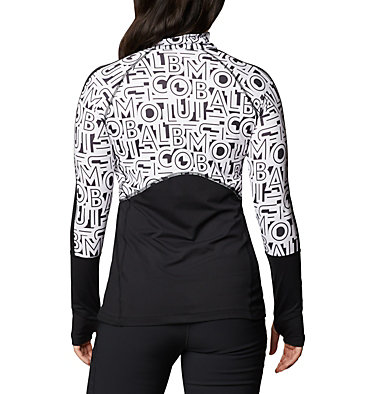 Chandail en tricot avec fermeture éclair 1/4 Winter Power™ pour femme Winter Power™ 1/4 Zip Knit | 031 | L, Black, White Typo Print, back