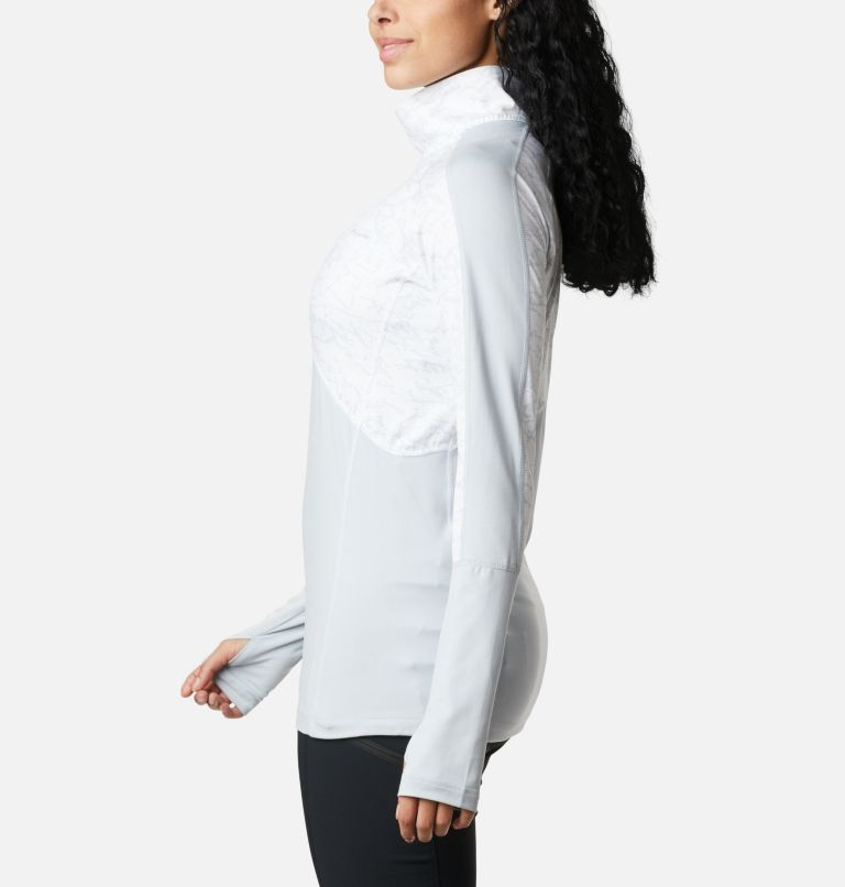 Winter Power™ 1/4 Zip Knit | 031 | M Haut avec zip 1/4 Winter Power femme , Cirrus Grey, White Crackle Print, a1