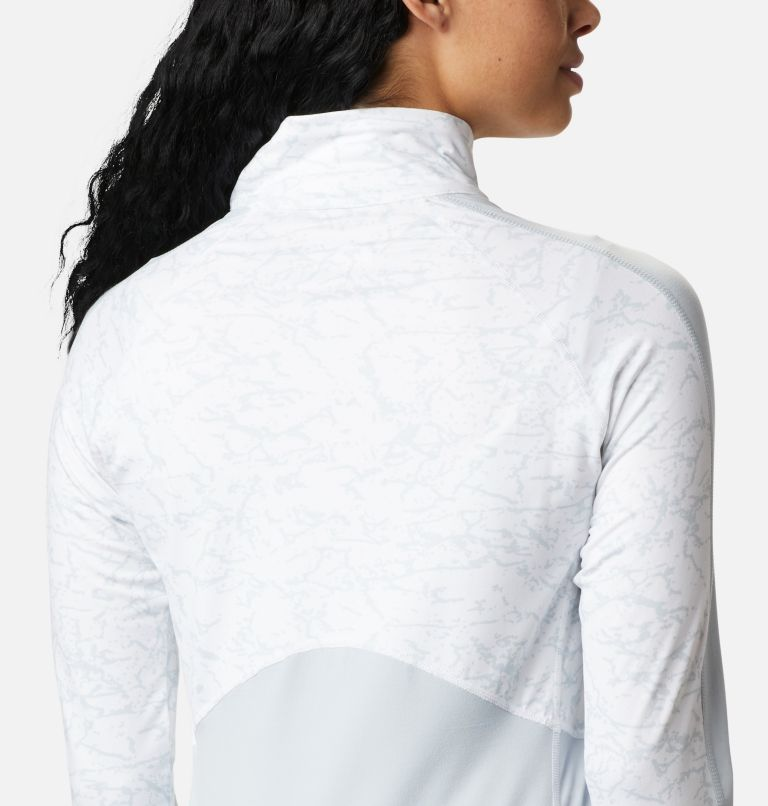 Winter Power™ 1/4 Zip Knit | 031 | M Haut avec zip 1/4 Winter Power femme , Cirrus Grey, White Crackle Print, a3