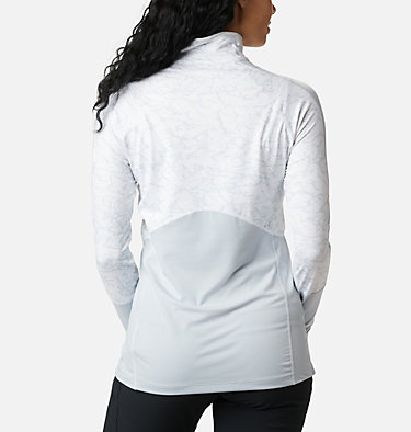 Winter Power Quarter Zip Shirt für Frauen  Winter Power™ 1/4 Zip Knit | 307 | L, Cirrus Grey, White Crackle Print, back