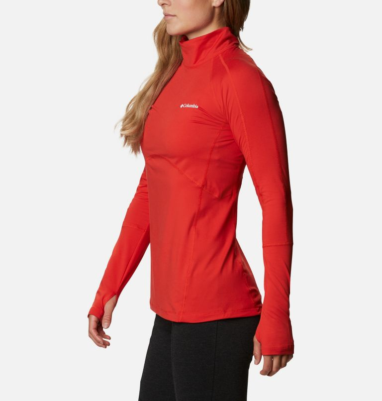 Winter Power™ 1/4 Zip Knit | 843 | M Haut avec zip 1/4 Winter Power femme , Bold Orange, a1