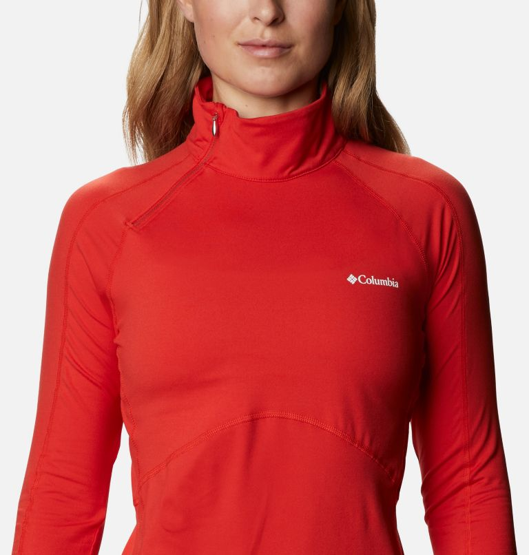 Winter Power™ 1/4 Zip Knit | 843 | M Haut avec zip 1/4 Winter Power femme , Bold Orange, a2