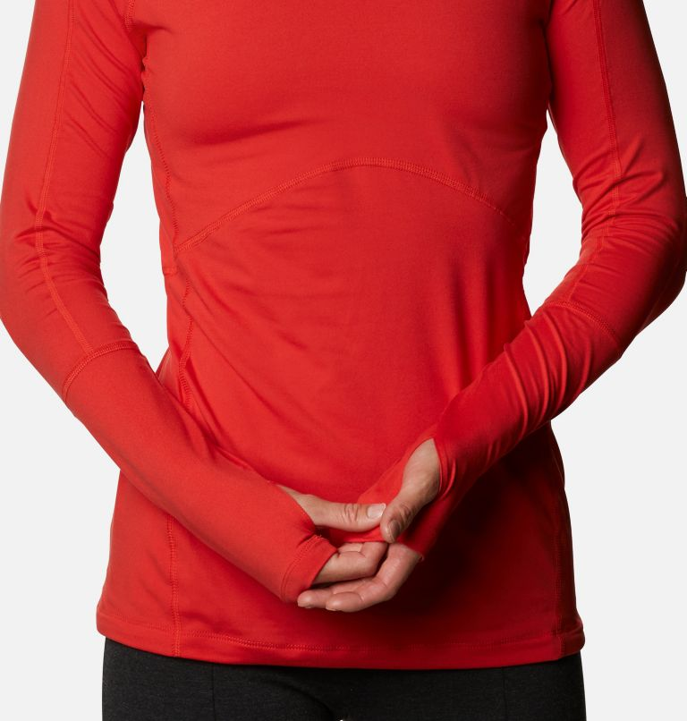 Winter Power™ 1/4 Zip Knit | 843 | M Haut avec zip 1/4 Winter Power femme , Bold Orange, a3