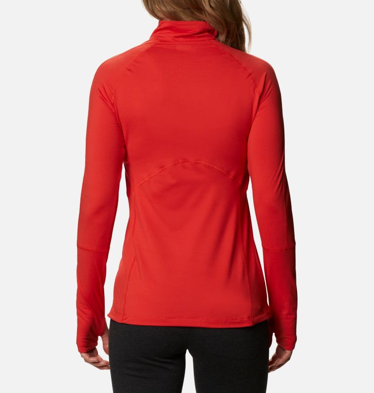 Winter Power™ 1/4 Zip Knit | 843 | M Haut avec zip 1/4 Winter Power femme , Bold Orange, back