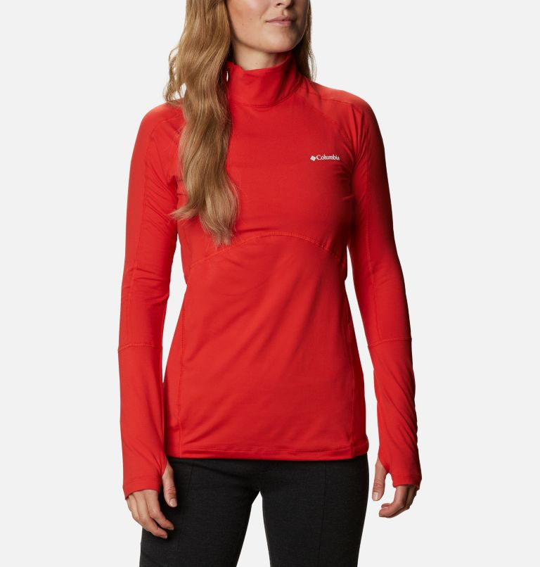 Winter Power™ 1/4 Zip Knit | 843 | M Haut avec zip 1/4 Winter Power femme , Bold Orange, front