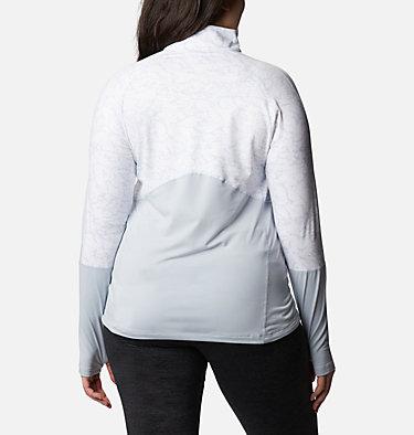 Women's Winter Power™ Quarter Zip Knit Shirt - Plus Size Winter Power™ 1/4 Zip Knit | 031 | 1X, Cirrus Grey, White Crackle Print, back