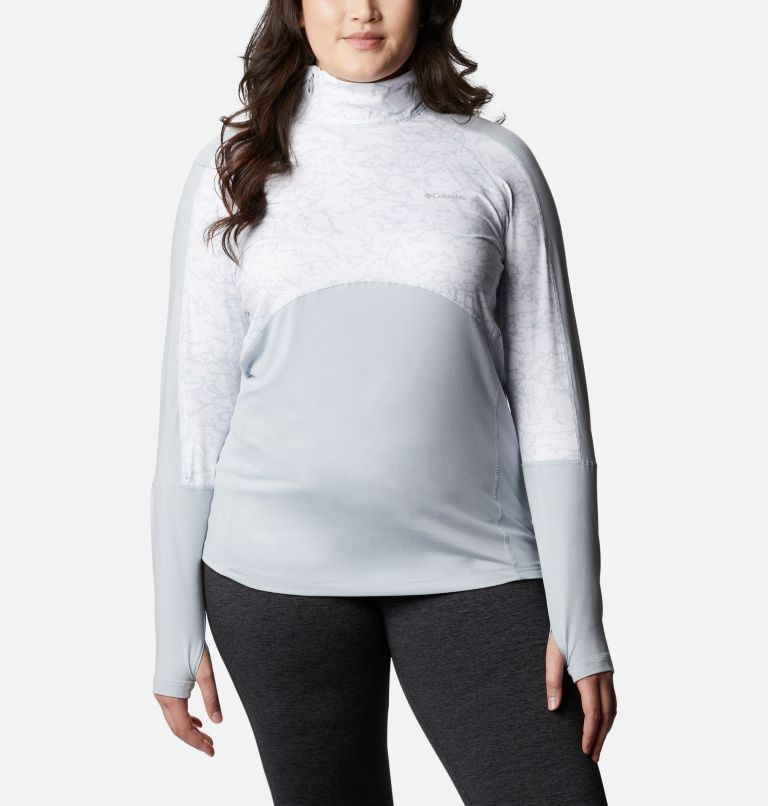 Women's Winter Power™ Quarter Zip Knit Shirt - Plus Size Women's Winter Power™ Quarter Zip Knit Shirt - Plus Size, front