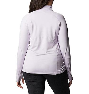 Women's Winter Power™ Quarter Zip Knit Shirt - Plus Size Winter Power™ 1/4 Zip Knit | 031 | 1X, Pale Lilac, back