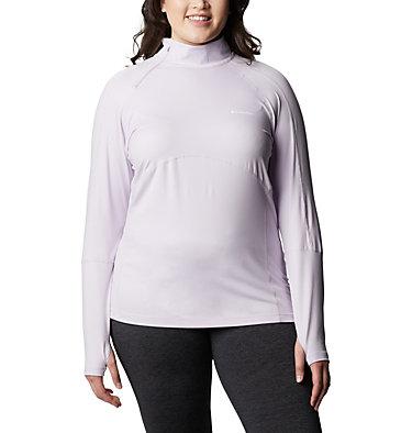 Women's Winter Power™ Quarter Zip Knit Shirt - Plus Size Winter Power™ 1/4 Zip Knit | 031 | 1X, Pale Lilac, front