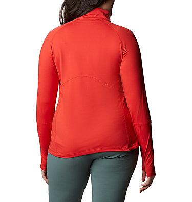 Women's Winter Power™ Quarter Zip Knit Shirt - Plus Size Winter Power™ 1/4 Zip Knit | 031 | 1X, Bold Orange, back