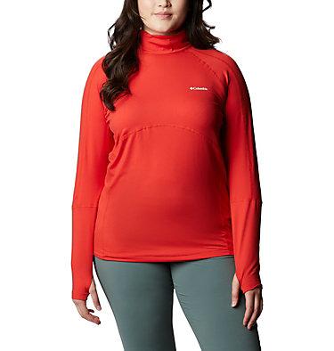 Women's Winter Power™ Quarter Zip Knit Shirt - Plus Size Winter Power™ 1/4 Zip Knit | 031 | 1X, Bold Orange, front