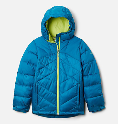 Girls' Winter Powder™ Quilted Jacket Winter Powder™ Quilted Jacket | 618 | L, Fjord Blue, Fjord Blue Sheen, front