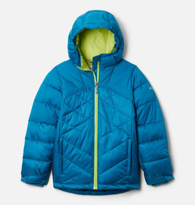 Winter Powder™ Quilted Jacket | 462 | L Girls' Winter Powder Quilted Ski Jacket, Fjord Blue, Fjord Blue Sheen, front
