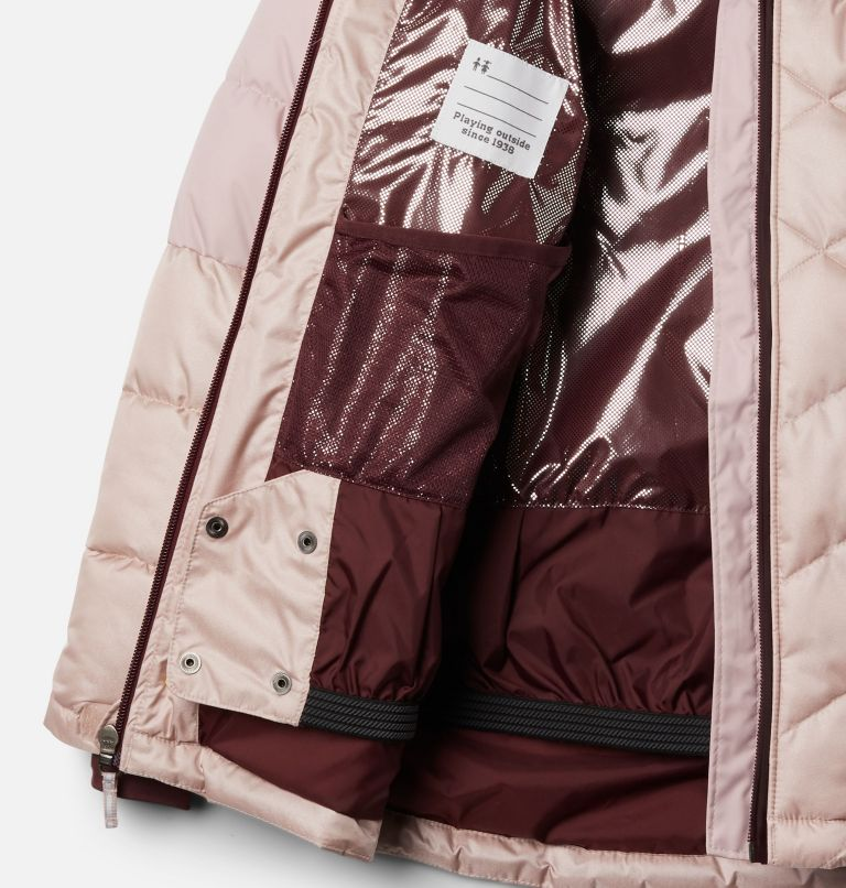 Winter Powder™ Quilted Jacket | 618 | M Girls' Winter Powder™ Quilted Jacket, Mineral Pink, Mineral Pink Sheen, a1
