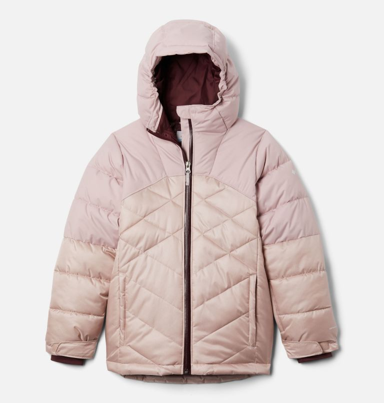 Winter Powder™ Quilted Jacket | 618 | M Girls' Winter Powder™ Quilted Jacket, Mineral Pink, Mineral Pink Sheen, front