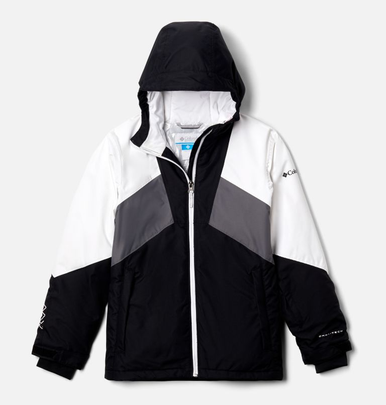 Alpine Diva™ Jacket | 010 | XXS Youth Alpine Diva™ Ski Jacket, Black, White, City Grey, front