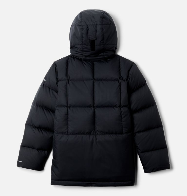 Forest Park™ Down Hooded Puffer | 010 | XXS Boys' Forest Park™ Down Hooded Puffy Jacket, Black, back