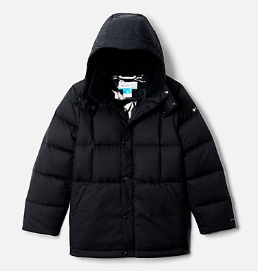 Boys' Forest Park™ Down Hooded Puffy Jacket Forest Park™ Down Hooded Puffer | 327 | M, Black, front