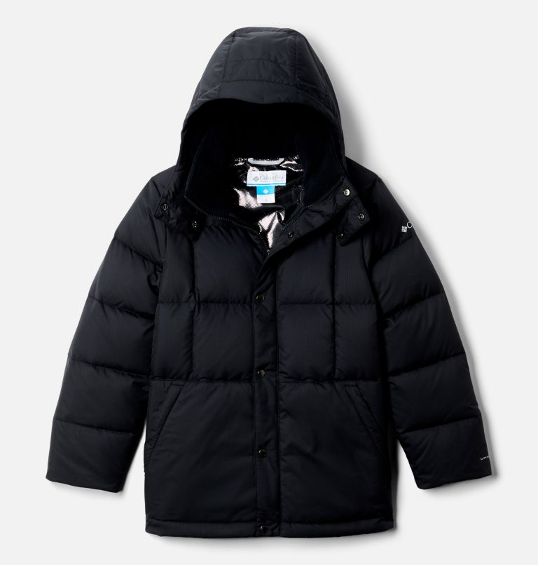 Forest Park™ Down Hooded Puffer | 010 | XXS Boys' Forest Park™ Down Hooded Puffy Jacket, Black, front