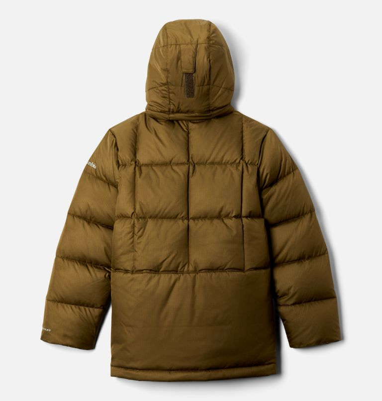 Forest Park™ Down Hooded Puffer | 327 | XXS Boys' Forest Park™ Down Hooded Puffy Jacket, New Olive Ripstop, back