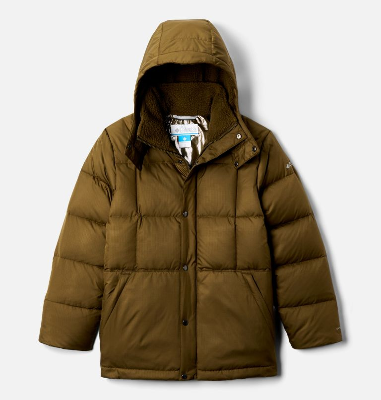 Forest Park™ Down Hooded Puffer | 327 | XXS Boys' Forest Park™ Down Hooded Puffy Jacket, New Olive Ripstop, front