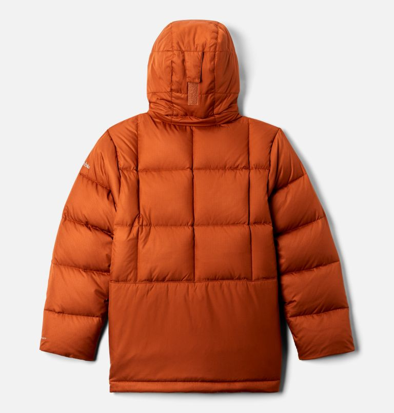 Forest Park™ Down Hooded Puffer | 885 | XXS Boys' Forest Park™ Down Hooded Puffy Jacket, Dark Adobe Ripstop, back