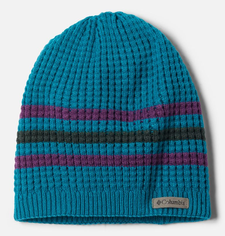 Fawn Hike™ Youth Beanie | 462 | O/S Kids' Fawn Hike™ Beanie, Fjord Blue, Plum, front