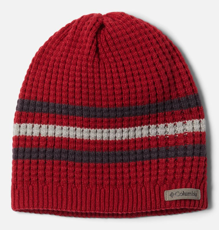 Fawn Hike™ Youth Beanie   613   O/S Kids' Fawn Hike Beanie, Mountain Red, Dark Purple, front