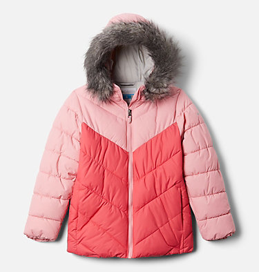 Manteau Arctic Blast™ pour fille Arctic Blast™ Jacket | 618 | S, Bright Geranium, Pink Orchid, front