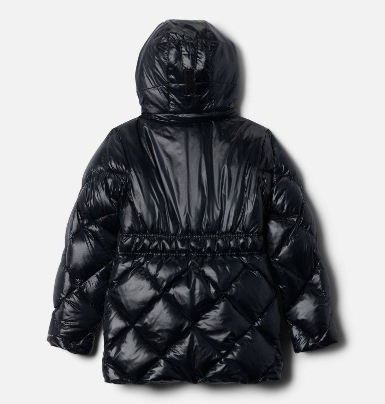 Forest Park™ Down Hooded Puffer | 010 | L Girls' Forest Park™ Down Hooded Puffy Jacket, Black High Gloss, Black, back