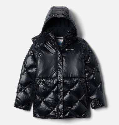 Girls' Forest Park™ Down Hooded Puffy Jacket | Columbia Sportswear