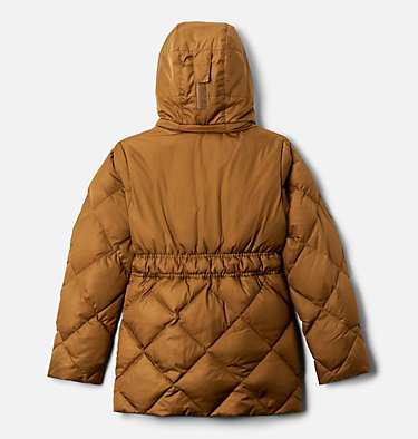 Girls' Forest Park™ Down Hooded Puffy Jacket Forest Park™ Down Hooded Puffer | 010 | L, Delta Ripstop, Mineral Pink, back