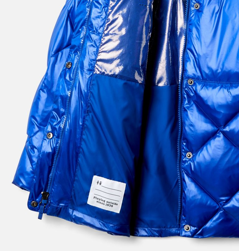 Forest Park™ Down Hooded Puffer | 410 | XS Girls' Forest Park™ Down Hooded Puffy Jacket, Lapis Blue High Gloss, a1