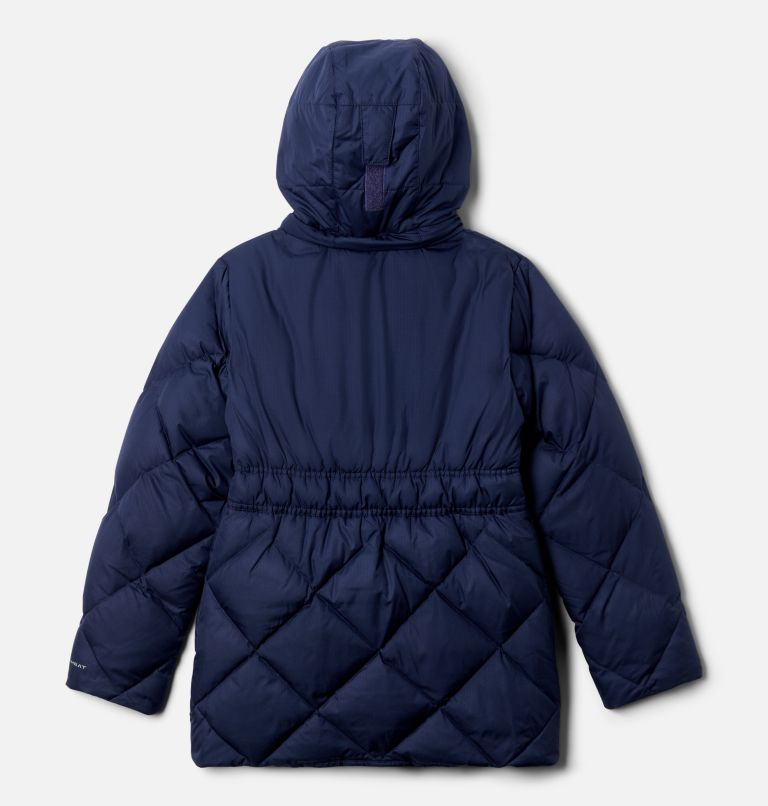Forest Park™ Down Hooded Puffer | 466 | L Girls' Forest Park™ Down Hooded Puffy Jacket, Nocturnal Ripstop, Chalk, back