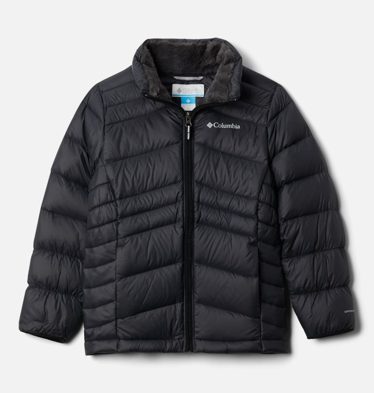 Autumn Park™ Down Jacket | 010 | XS Girls' Autumn Park™ Down Jacket, Black, front